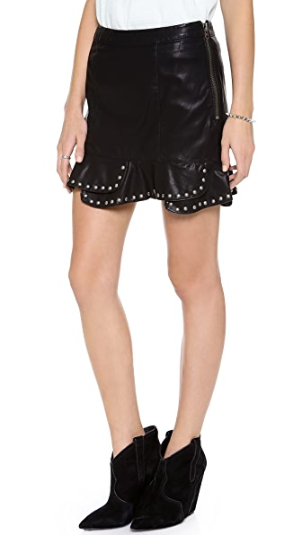 Free People Moon Flower Faux Miniskirt