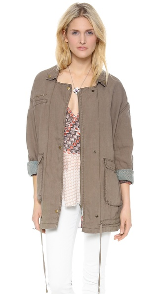 Free People Linen Twill Jacket