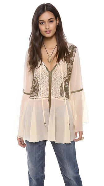 Free People Golden Moments Peplum Tunic