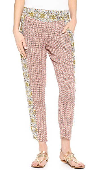 Free People Mixed Print Easy Pleat Pants