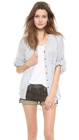 Free People Put Your Back Into It Top - Chambray Combo at Shopbop / East Dane