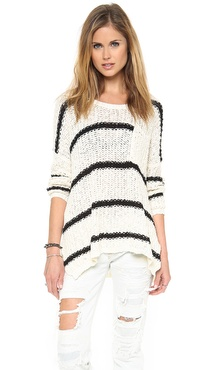 Free People Stripe & Solid Pullover