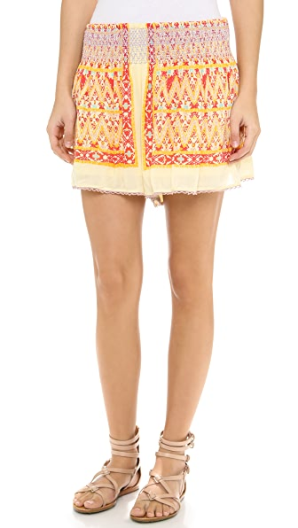 Free People Smocked Waist Shorts