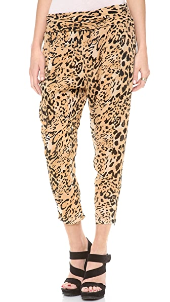 Free People Cheetah Twisted Harem Pants