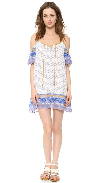 Free People Printed Cold Shoulder Dress