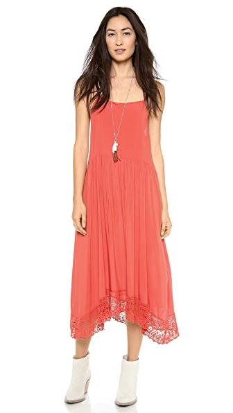 Free People Easy Breezy Crochet Hem Dress