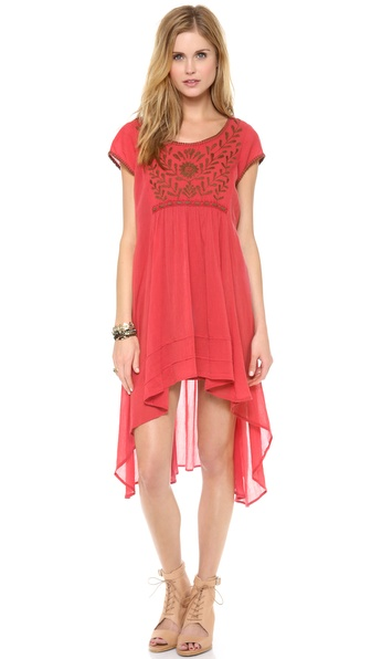 Free People Marina Embroidered Dress
