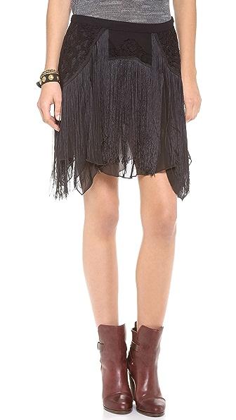 Free People Foam of Daze Fringe Skirt