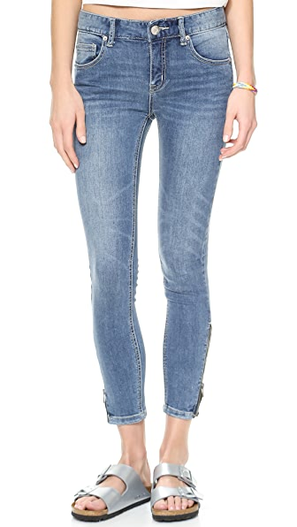 Free People High Rise Ankle Zip Jeans
