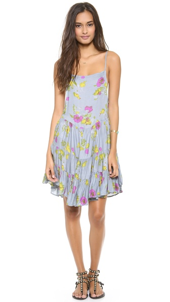 Free People Circles of Flowers Print Slip Dress