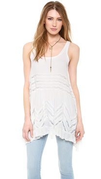 Free People Voile & Lace Trapeze Tank