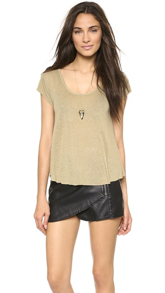 Free People Breezy Knot Back Tee