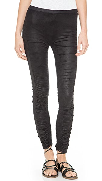Free People Shirred Leggings