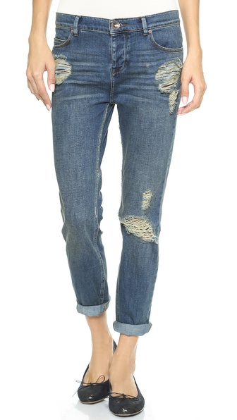 Free People Low Rise Boyfriend Jeans