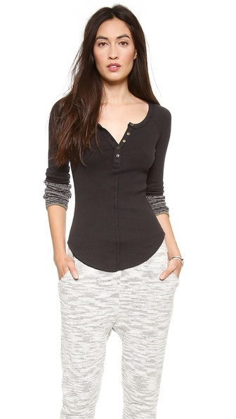 Free People Alpine Cuff Newbie Thermal Top