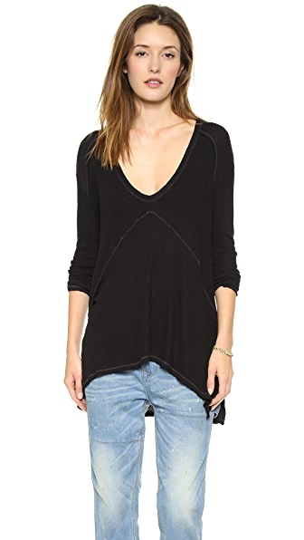 Free People Drippy Thermal Sunset Park Top