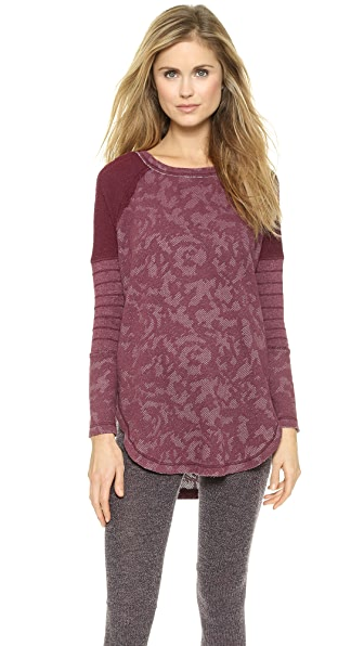 Free People Bed Of Roses Pullover - Merlot
