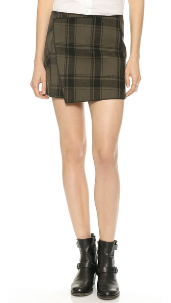 Free People Bonded Plaid Miniskirt