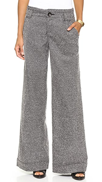 Free People Tweed Wide Leg Trousers
