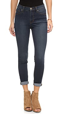 Free People High Rise Roller Crop Jeans