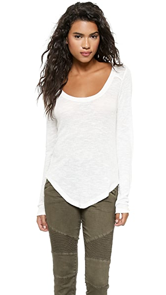 Free People Layering Me Long Sleeve Top - Ivory