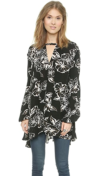Free People Tree Swing Top - Onyx Combo