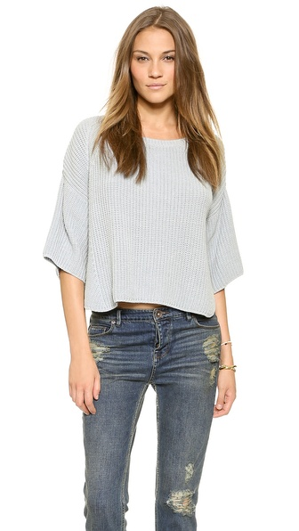 Free People Rayanne Shaker Sweater