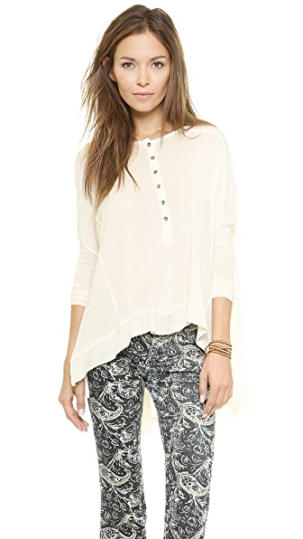 Free People Benedict Canyon Henley - Cream