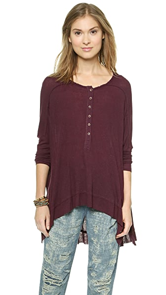 Free People Benedict Canyon Henley - Blackberry