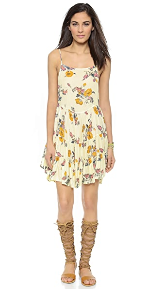 Kupi Free People haljinu online i raspordaja za kupiti Free People Circles Slip Dress Ivory Combo online