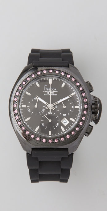 Freelook Aquamarina Watch with Swarovski Crystals