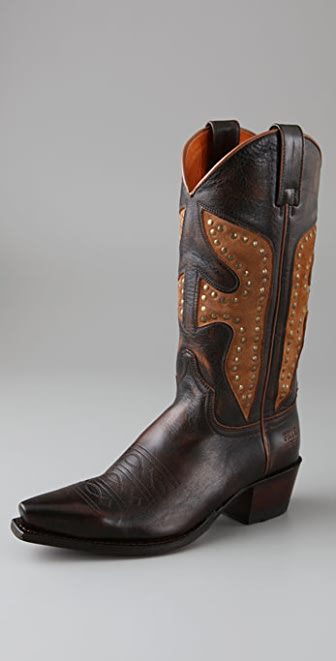 Frye Daisy Duke Pull On Boots with Stitching