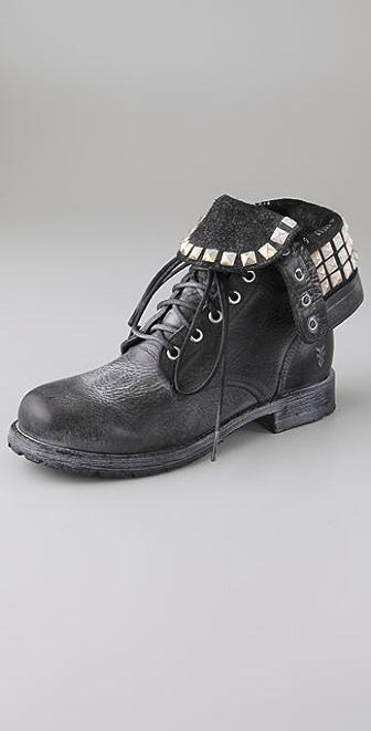 Frye Rogan Studded Combat Boots