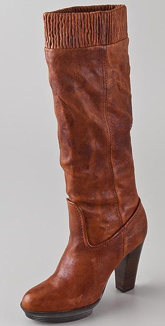 Frye Mimi Scrunch Platform Boots