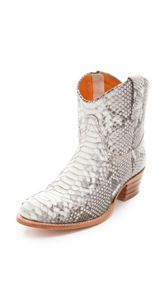 Frye Deborah Python Booties