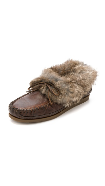 Frye Mason Cuff Slippers