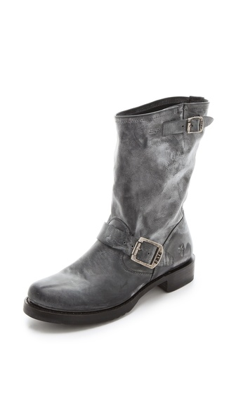 Frye Veronica Short Boots - Black at Shopbop / East Dane