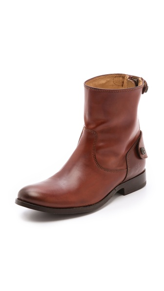 Frye Melissa Button Zip Booties