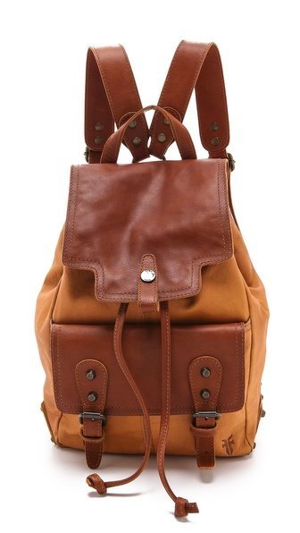 Frye Tracy Backpack - Mustard at Shopbop / East Dane