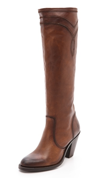 Frye Mustang Stitch Tall Boots