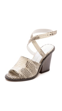 Freda Salvador Heart Ankle Wrap Sandals