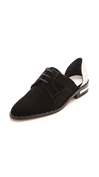 Freda Salvador Wit Colorblock Cutout Oxfords