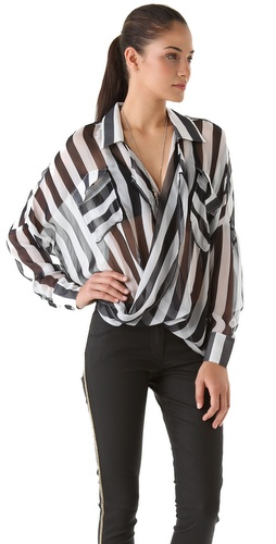 Funktional Stripe Fold Front Shirt