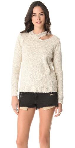 Funktional Slash Neck Sweater