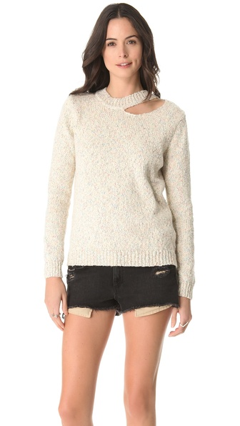 Funktional Slash Neck Sweater