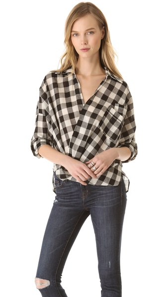 Funktional Fold Front Blouse