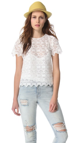 Kupi Funktional Scalloped Lace Tee i Funktional haljine online u Apparel, Womens, Tops, Tee,  prodavnici online