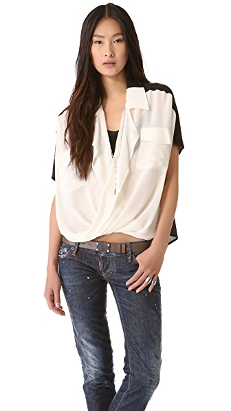 Funktional Lens Fold Front Blouse