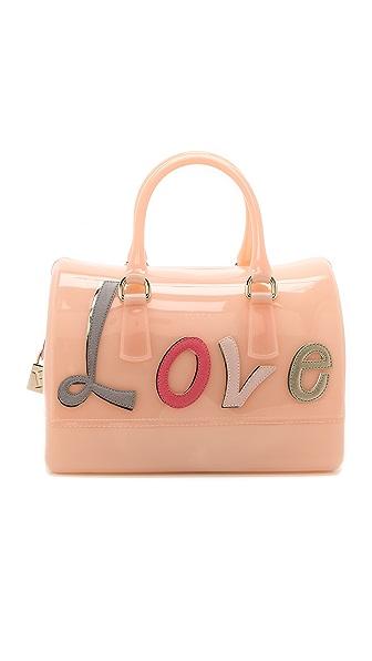 Женская розовая сумка metropolis с принтом FURLA купить