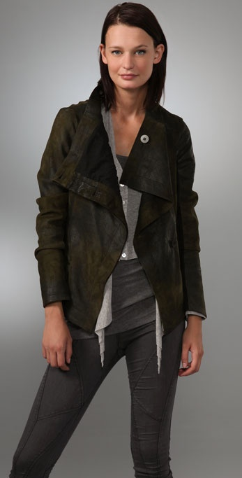 Graham & Spencer Distressed Leather Jacket